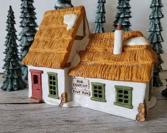 DEPT 56 CHRISTMAS DICKENS' Village The Cottage of Bob Cratchit & Tiny Tim
