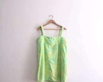 Tropical Lime Terry Cloth Towel Dress