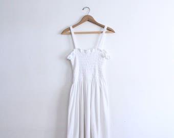 White Terry Cloth Summer Dress