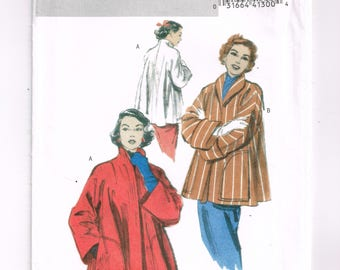 Retro Butterick '52 B4928 Misses' Pattern, Loose-fitting Coat / Jacket Women's 50's Style, Size Xsm Sml Med, Very Easy Sewing, Vintage Style