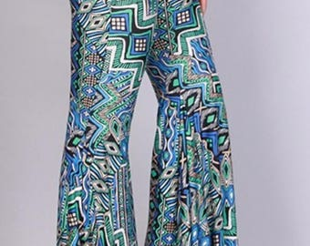 Blue Puzzel Belle Flare Pants