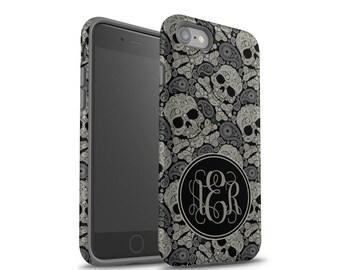 iPhone 6 Case, iPhone 7 Case, iPhone 7 Plus Case, iPhone 8 Case, Samsung Galaxy Case, iPhone X Case, Galaxy S8 Case, Skulls, Monogram Case