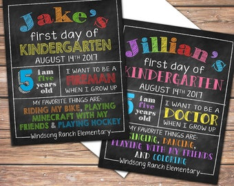 Back-to-School Sign, First Day, 1st Day of School, Kindergarten, 1st, 2nd, 3rd, 5th, 6th, 8th, 9th, 12th, School, Last Day - Digital File