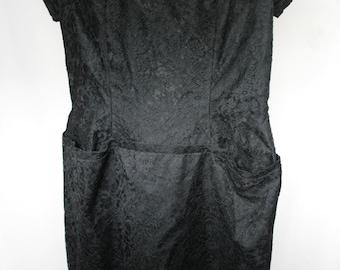 1940s - 1950s Black Lace Dress, size 6