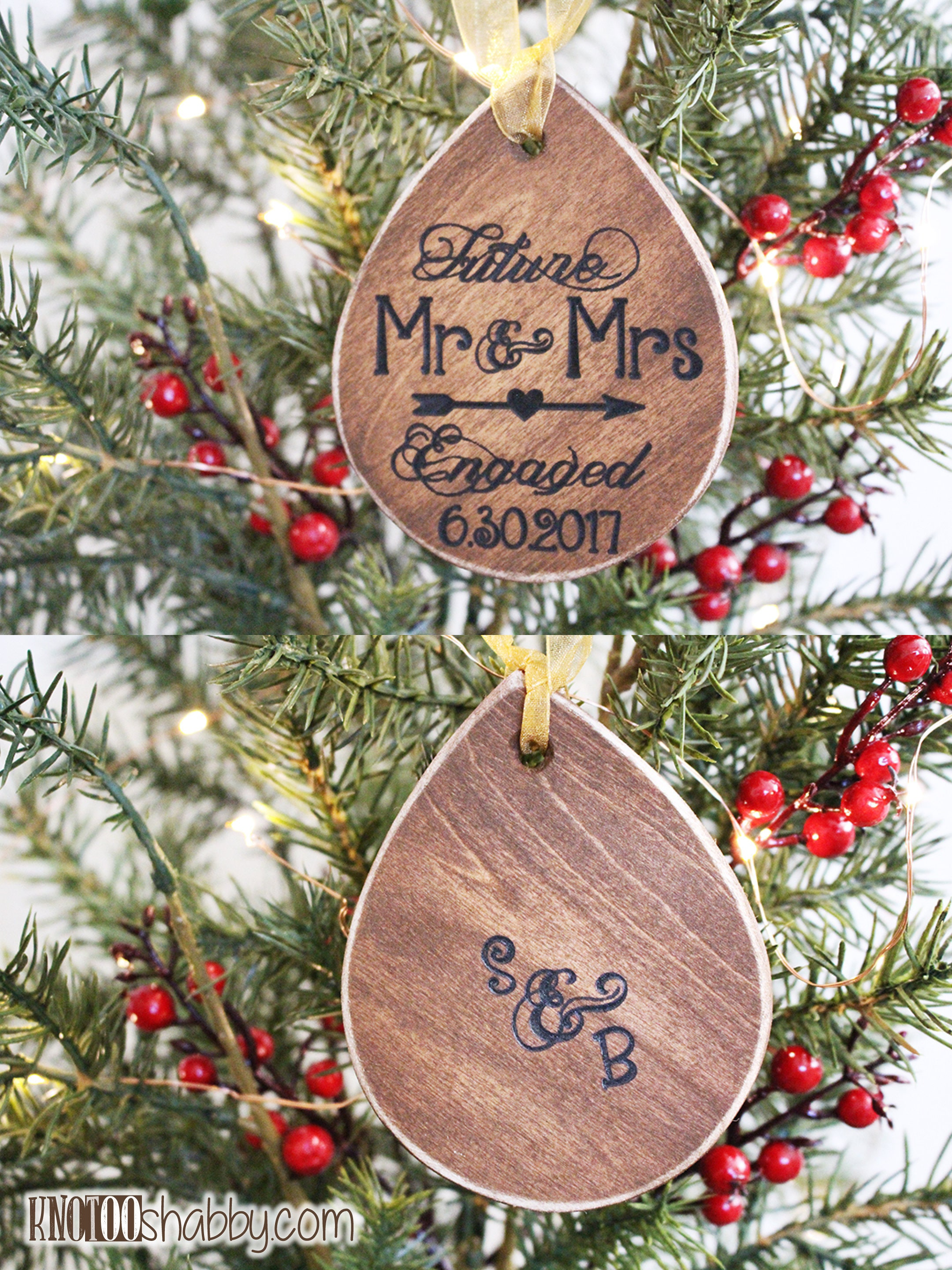 Future Mr and Mrs Ornament Engagement Ornament Personalized