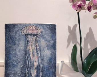 Watercolor Jellyfish Illustration - limited edition print