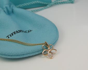 Tiffany & Co Villa Paloma 18K Rose Gold Flower Pendant Necklace MINT w/ Box