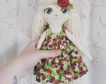 "Crescent Moon Doll ""Raspberry"""