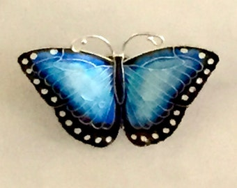 Morpho Butterfly Pin
