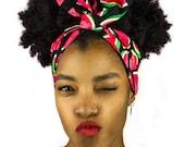 Red, Pink, Green, Black, Watermelon Print, Cotton, Wire Headband, Hair Bands, Hair Ties, Headband,Hair Accessories, headscarf, Dolly Bow