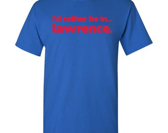 I'd Rather Be In...Lawrence T Shirt - Royal