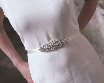 Bridal sash with crystals, maternity sash, wedding sash, bridal belt, wedding belt, maternity belt