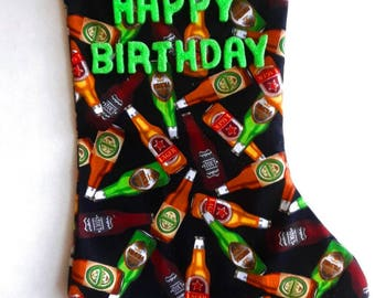 Beer Bottles Birthday Stocking 2