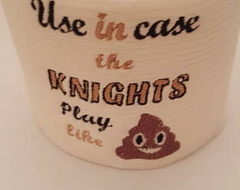 Novelty Embroidered University of Central Florida Knights Inspired Toilet Paper