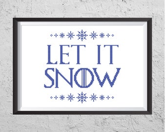 Let It Snow -  Game Of Thrones Inspired Cross Stitch PDF -  Modern Cross Stitch PDF - Instant Download