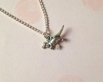 Dinosaur Necklace, t-rex necklace, Velociraptor necklace, quirky necklace, nerdy necklace, geeky necklace, unique necklace, dino necklace