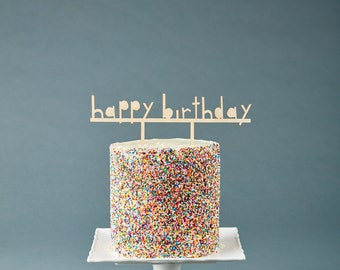 Birthday Cake Topper - Customize Cake Topper Simple - Wooden Wedding Cake Topper Birthday Celebration