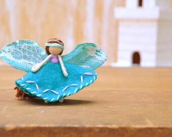 Felt Fairy Doll - felt fairies, waldorf fairy doll, waldorf fairies, miniature fairy doll, miniature fairies, flower fairy doll,