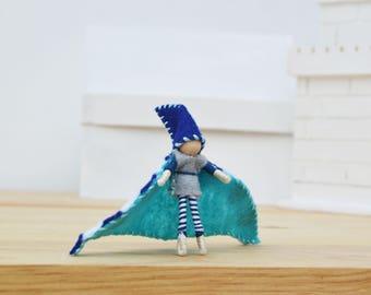Waldorf Boy Doll - boy fairy doll, boy fairies, waldorf fairy doll, waldorf fairies, felt fairy doll, felt fairies, OOAK fairy doll, elf
