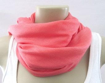 Coral Pink Pashmina Large Scarf Wedding Shawl Bridal Wrap