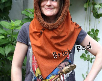 Ewok inspired hood hat. Handmade with love. Cosy and great for festivals, film and comic cons and Star Wars events