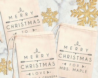 Personalized Christmas Gift Bags, Custom Christmas Gift Wrapping, Christmas Favor Bags, Christmas Party Favor Bags, Custom Christmas Bags