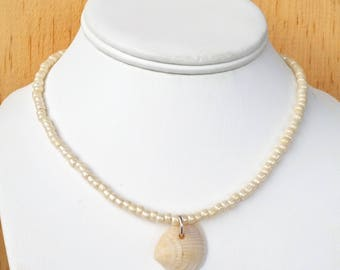 ocean necklace nautical jewelry shell necklace shell choker beach jewelry beach necklace shells sea shell necklace sea jewelry sea shells
