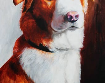CUSTOM Dog Painting on Canvas.  Pet Portrait.