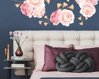 MINI FLOWER SET - Flower Wall Decal, Floral Wall Decal, Watercolor Wall Decals, Flower Wall Stickers, Watercolor Flower Wall Decal, 04-0004