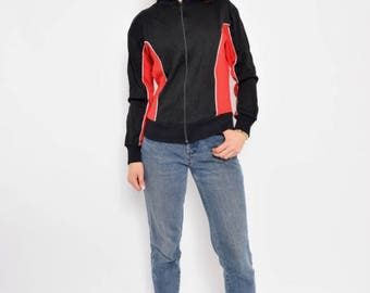 Vintage 80's Color Blocking Sports Jacket - Size Medium
