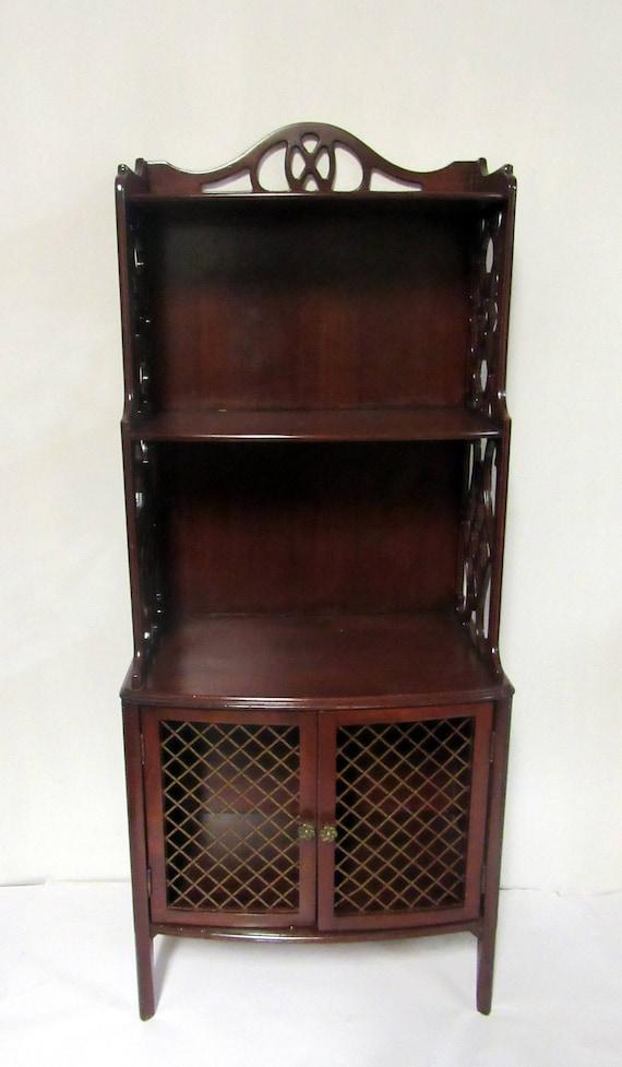Mahogany Bookshelf Etagere Curio cabinet