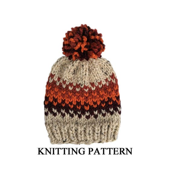 Easy Fair Isle Hat PATTERN Beginner Fair Isle Beanie Pattern