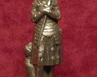 antique French statue of Joan of Arc or Jeanne d'Arc
