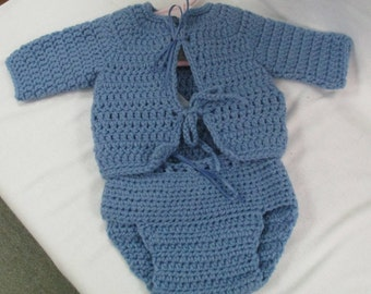 Baby Sweater & Diaper Cover, 0/6 Months