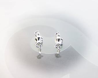Ballerina earrings, ballet dancer