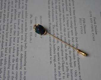 Antique Beetle Stick Pin - 1910s Edwardian Bug Stick Pin