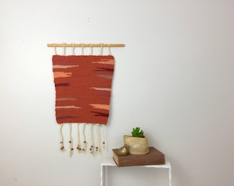 Vintage Hand Woven Wool Wall Hanging