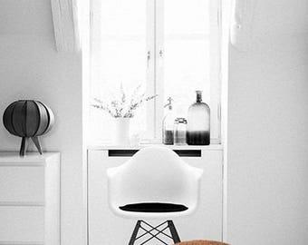 Camel Brown Pouf Ottoman-Brown Footstool Pouf-Brown Floor Pillow-Crochet Floor Cushions-Floor Pouf-Knitted Pouffe-Modern Poof- Ottoman Pouf