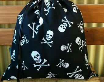 Kids Library Bag - Skull and Crossbones