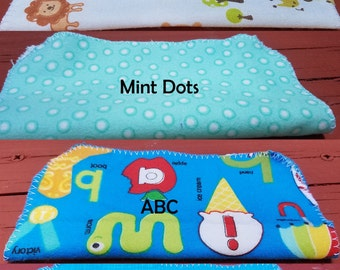 12 flannel cloth wipes