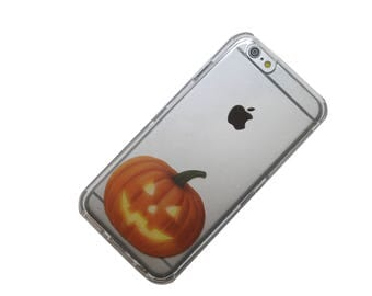 Happy Jack o Lantern, Halloween phone case, transparent Phone Case, iphone 6 Case, iphone 7 Case, iphone 6 plus Case, iphone 7 plus Case,