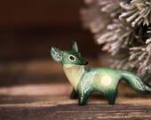 Forest Fox Totem Figurine Sculpture, Animal magic spirit amulet