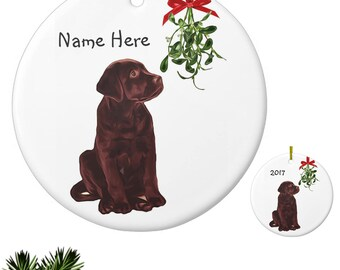 Chocolate Lab Ornament 0MSTL - Labrador Ornament Personalized - Dog Christmas Ornament -Unique Christmas Ornaments