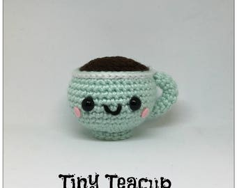 Tiny Teacup Amigurumi Plush Crochet Toy