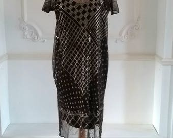 1920s Brown Egyptian Assuit Dress