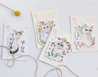 cute cat Sticky note flower garden cat cute kitten cat sticky memo notes meow cat reminder message memo paper cat theme cat pattern gift