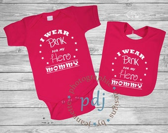 Personalized I WEAR PINK FOR . . . . . ./Breast Cancer/Wear Pink for my mom / Breast Cancer Awareness