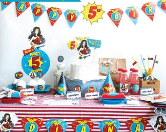 Wonder woman party Etsy