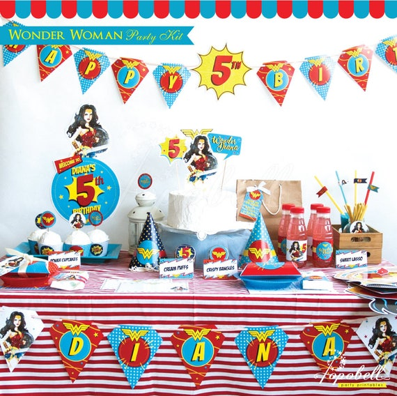 Wonder Woman Party Kit Complete Wonder Woman Party Printable 2017