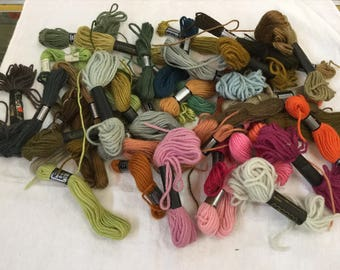49 DMC Tapestry Thread Skeins Wool  Various Colors A Few Paragon Laine Tapisserie Laine Colbert Free Shipping to US
